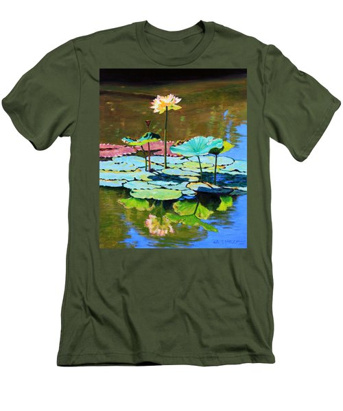 Lotus Above The Lily Pads Men's T-Shirt (Athletic Fit)