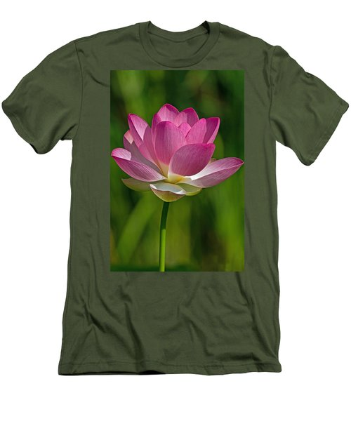 Men's T-Shirt (Slim Fit) featuring the photograph Lotus Bloom by Jerry Gammon
