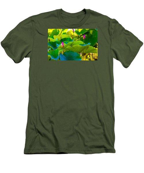 Lotus Garden Men's T-Shirt (Slim Fit) by Roselynne Broussard