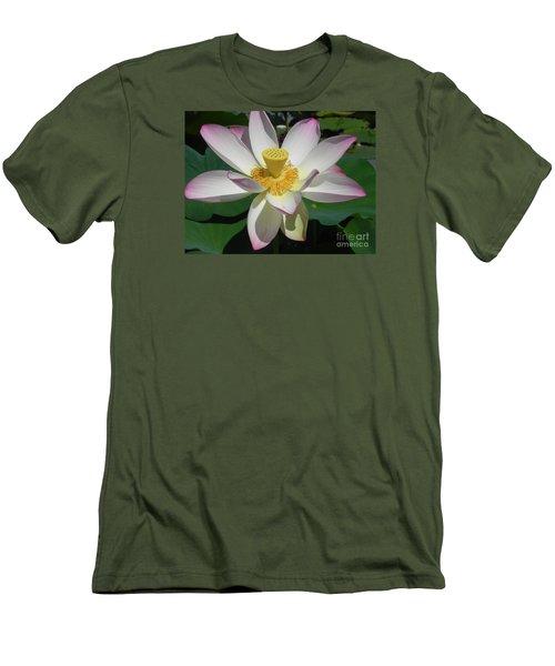Lotus Flower Men's T-Shirt (Slim Fit) by Chrisann Ellis