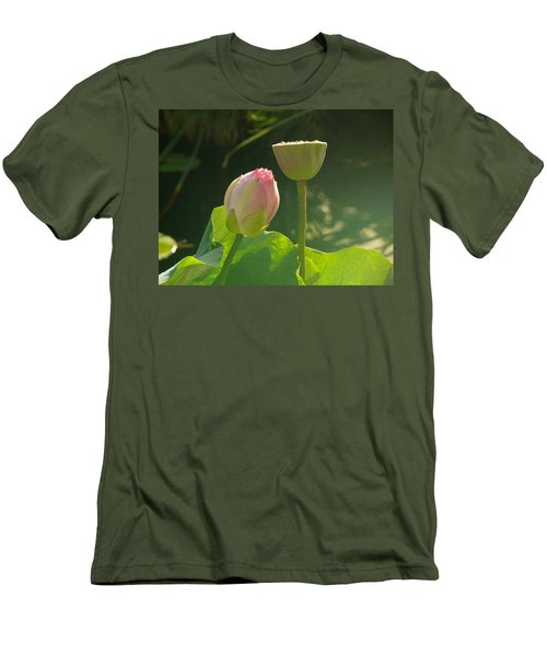 Lotus Soft Men's T-Shirt (Slim Fit) by Evelyn Tambour