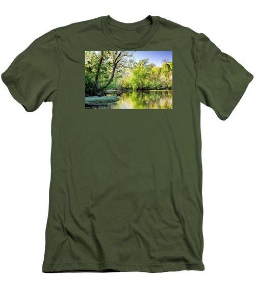 Louisiana Bayou Men's T-Shirt (Slim Fit) by Kathleen K Parker