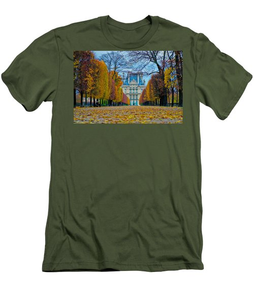 Louvre In Fall Men's T-Shirt (Athletic Fit)