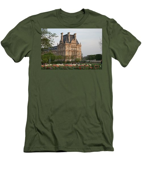 Men's T-Shirt (Slim Fit) featuring the photograph Louvre Museum by Jennifer Ancker