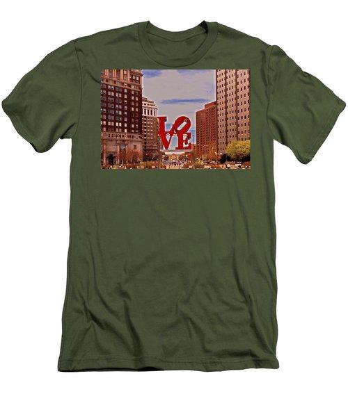 Love Sculpture - Philadelphia - 2 Men's T-Shirt (Slim Fit) by Lou Ford