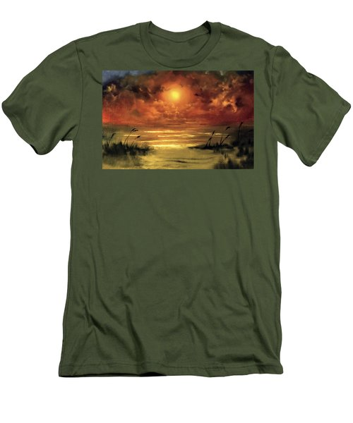Lovers Sunset Men's T-Shirt (Athletic Fit)