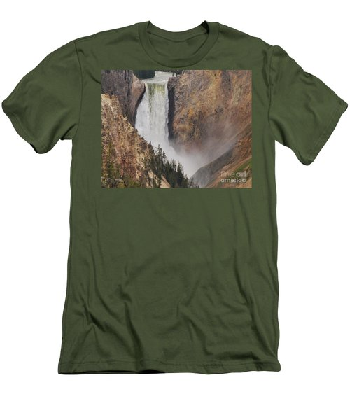 Lower Falls - Yellowstone Men's T-Shirt (Slim Fit) by Mary Carol Story