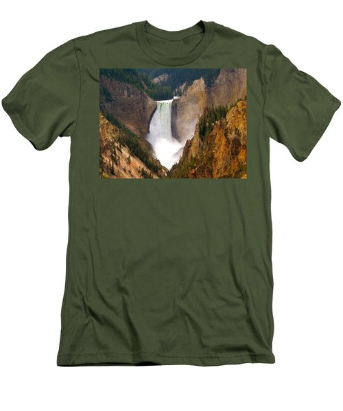 Men's T-Shirt (Slim Fit) featuring the photograph Lower Yellowstone Falls by Eric Tressler