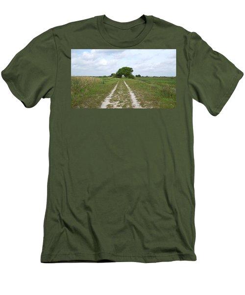 Loxahatchee Wildlife Refuge Men's T-Shirt (Slim Fit) by Ron Davidson