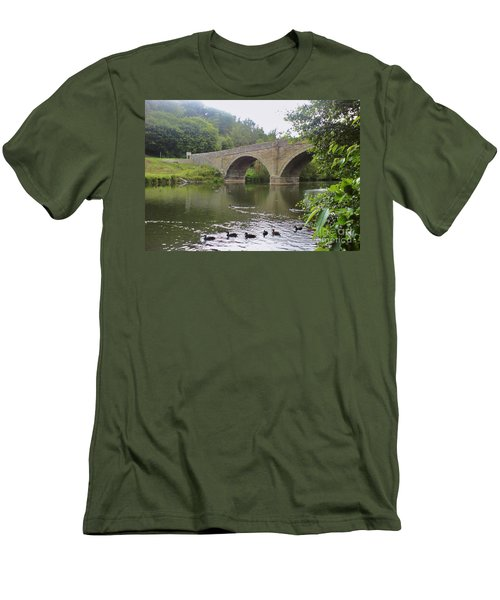 Men's T-Shirt (Slim Fit) featuring the photograph Ludlow Bridge by John Williams