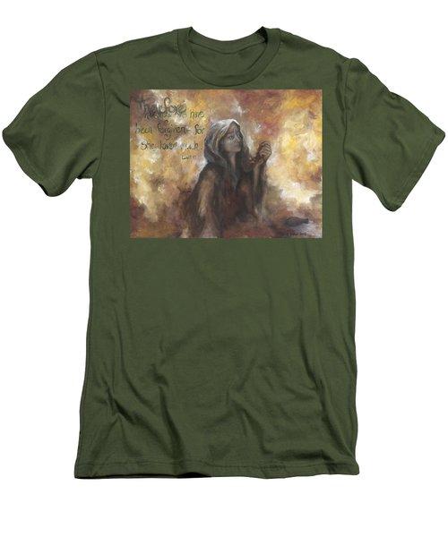 Luke 7 Verse 47 Forgiveness Men's T-Shirt (Athletic Fit)