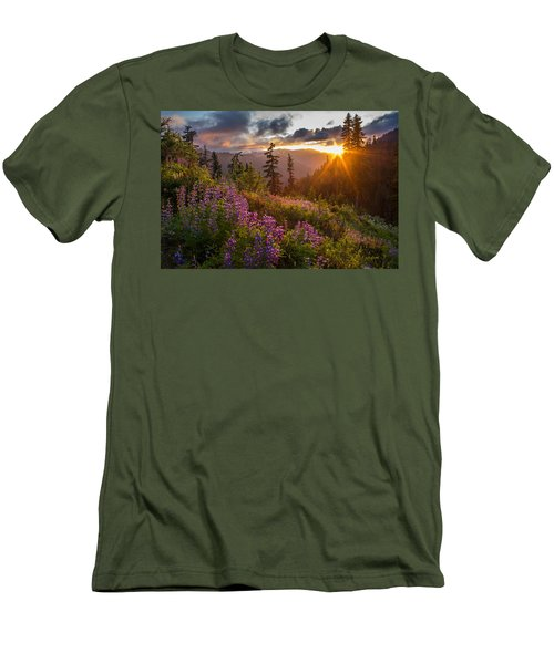 Lupine Meadows Sunstar Men's T-Shirt (Slim Fit) by Mike Reid