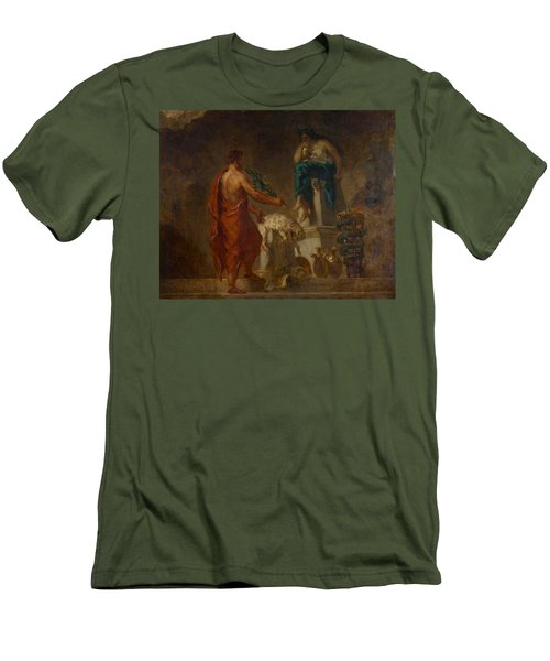 Lycurgus Consulting The Pythia Men's T-Shirt (Slim Fit) by Eugene Delacroix
