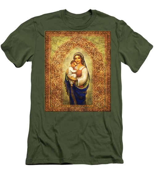 Madonna In An Arch Men's T-Shirt (Slim Fit) by Ananda Vdovic