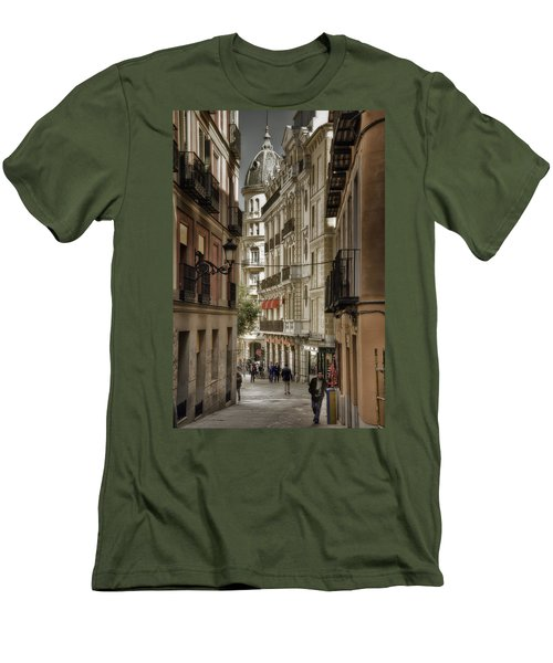 Madrid Streets Men's T-Shirt (Slim Fit) by Joan Carroll
