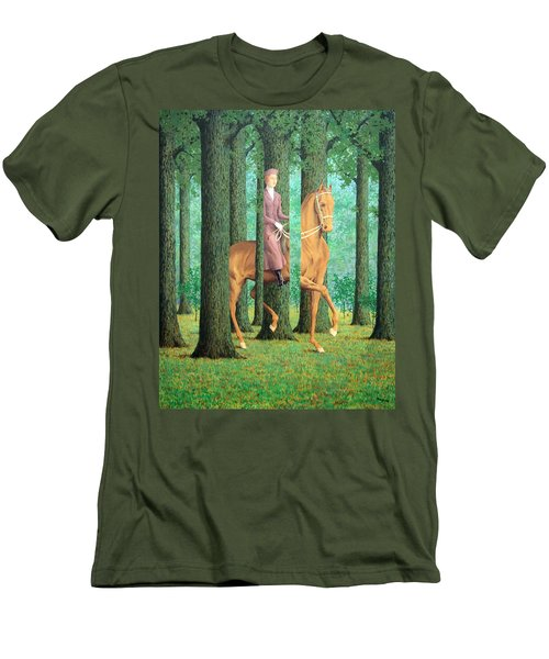 Magritte's The Blank Signature Men's T-Shirt (Athletic Fit)