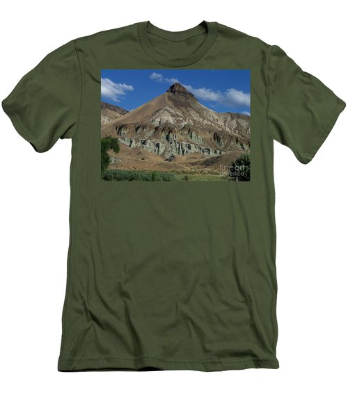 Men's T-Shirt (Slim Fit) featuring the photograph Majestic Rimrock by Chalet Roome-Rigdon