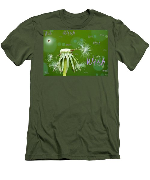 Make A Wish Card Men's T-Shirt (Athletic Fit)
