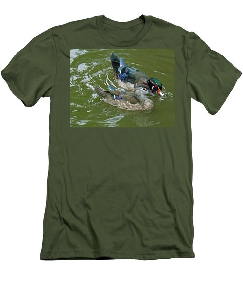 Male And Female Wood Ducks Men's T-Shirt (Athletic Fit)