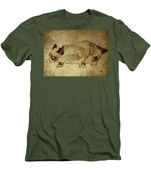 Male Cat Hunts At Night Men's T-Shirt (Athletic Fit)