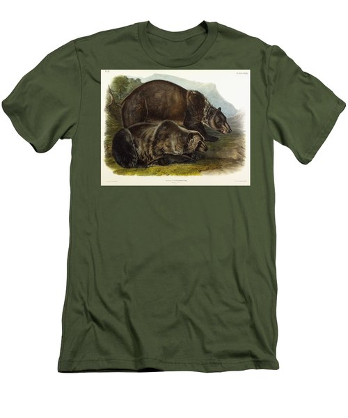 Male Grizzly Bear Men's T-Shirt (Athletic Fit)