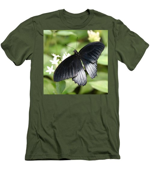 Male Scarlet Swallowtail Men's T-Shirt (Athletic Fit)