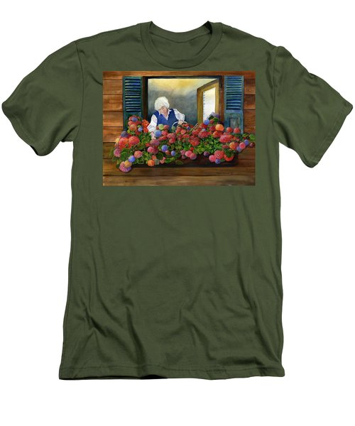 Mama's Window Garden Men's T-Shirt (Athletic Fit)