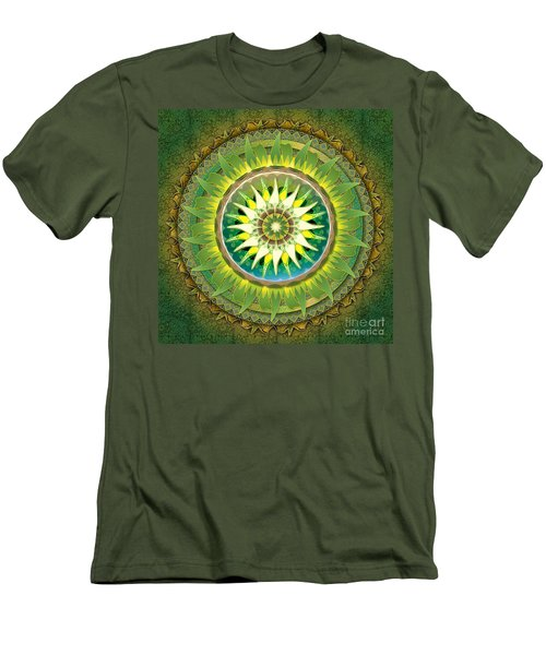 Mandala Green Men's T-Shirt (Athletic Fit)