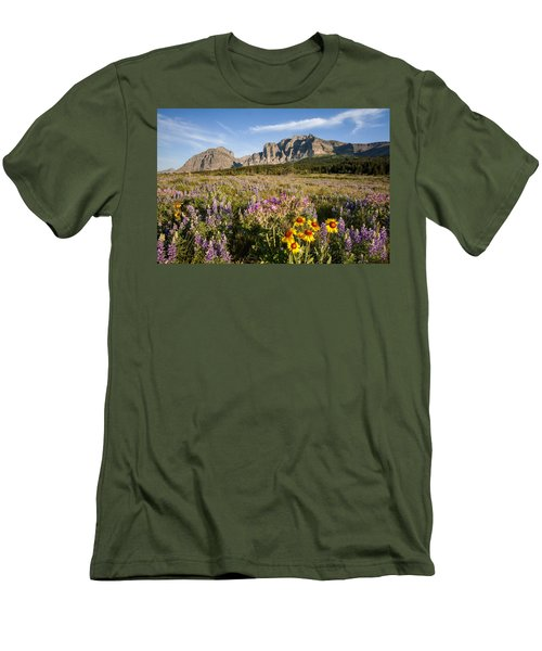 Men's T-Shirt (Slim Fit) featuring the photograph Many Glacier Spring by Jack Bell