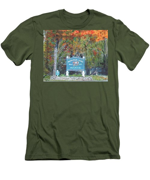 Marathon Park Men's T-Shirt (Athletic Fit)