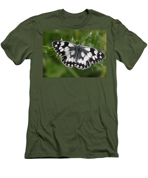 Marbled White Men's T-Shirt (Athletic Fit)