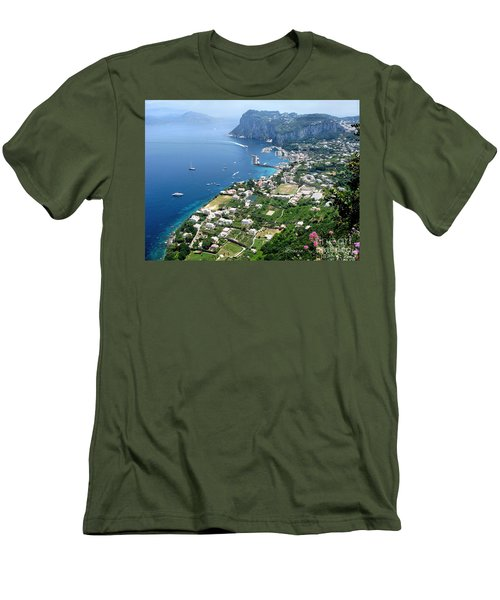 Marina Grande Anacapri Men's T-Shirt (Slim Fit) by Jennie Breeze