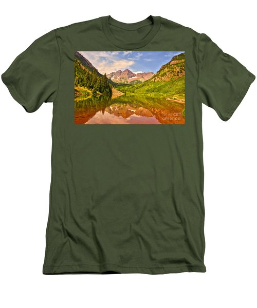 Maroon Bells Summer Men's T-Shirt (Athletic Fit)