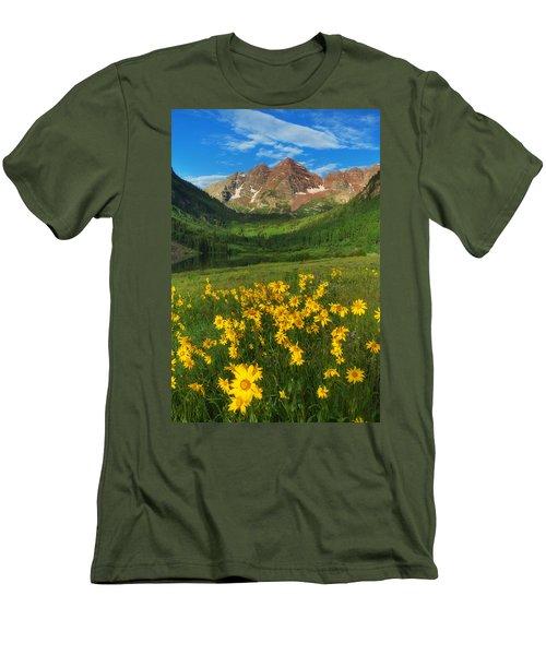Maroon Summer Men's T-Shirt (Slim Fit) by Darren  White