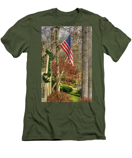 Maryland Country Roads - Flying The Colors 1a Men's T-Shirt (Slim Fit) by Michael Mazaika