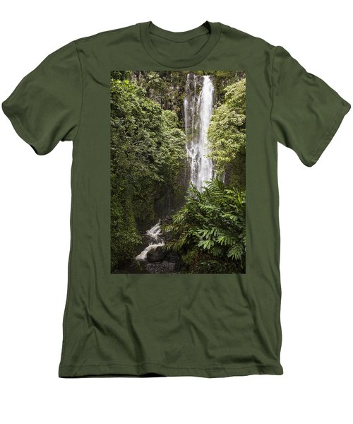 Maui Waterfall Men's T-Shirt (Athletic Fit)