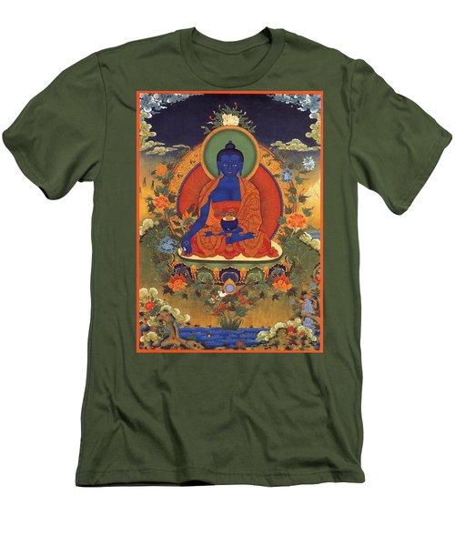 Medicine Buddha 8 Men's T-Shirt (Slim Fit) by Lanjee Chee