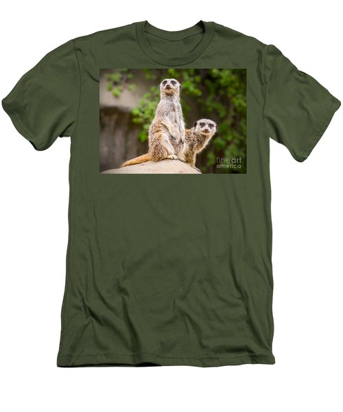 Meerkat Pair Men's T-Shirt (Slim Fit) by Jamie Pham