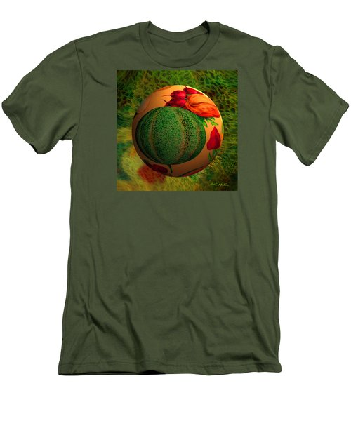 Men's T-Shirt (Slim Fit) featuring the digital art Melon Ball  by Robin Moline