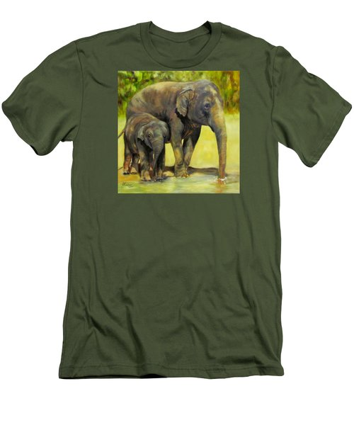 Thirsty, Methai And Baylor, Elephants  Men's T-Shirt (Athletic Fit)