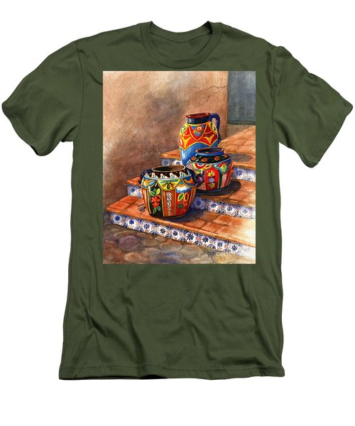 Mexican Pottery Still Life Men's T-Shirt (Slim Fit) by Marilyn Smith