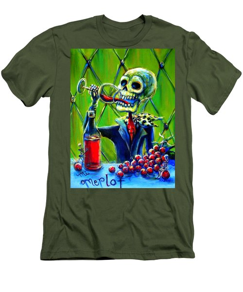 Men's T-Shirt (Slim Fit) featuring the painting Mi Merlot by Heather Calderon