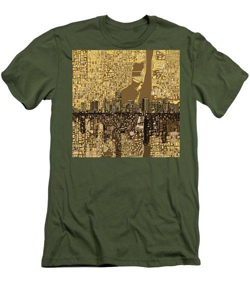 Miami Skyline Abstract 6 Men's T-Shirt (Athletic Fit)