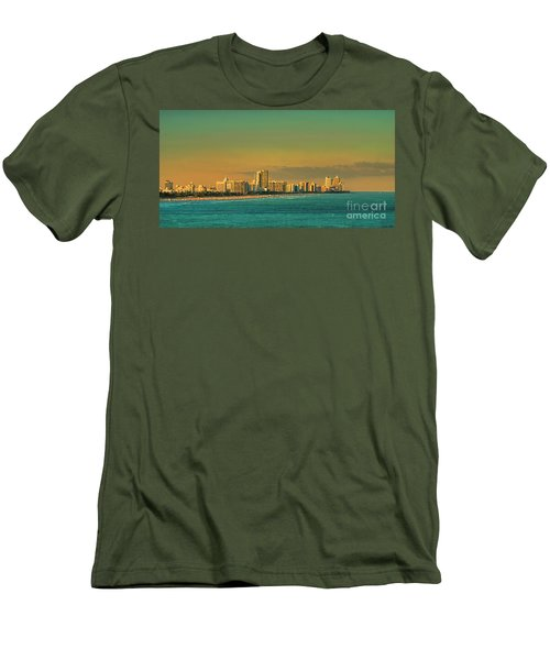 Miami Sunset Men's T-Shirt (Slim Fit) by Olga Hamilton