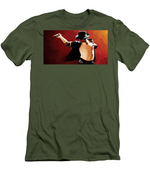 Michael Jackson Artwork 4 Men's T-Shirt (Athletic Fit)