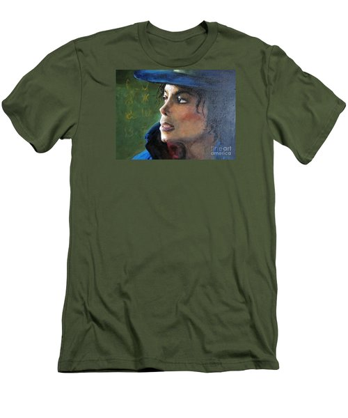 Michael Joseph Jackson Men's T-Shirt (Slim Fit) by Jieming Wang