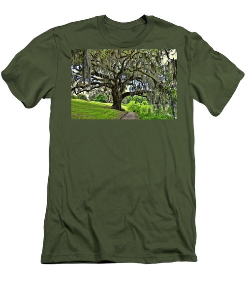 Middleton Place Oak  Men's T-Shirt (Slim Fit) by Allen Beatty