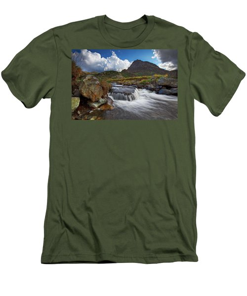 Mighty Tryfan  Men's T-Shirt (Slim Fit) by Beverly Cash