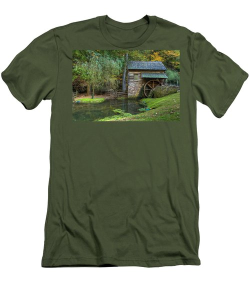 Mill Pond In Woods Men's T-Shirt (Athletic Fit)