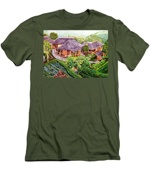 Men's T-Shirt (Slim Fit) featuring the painting Mini Paradise by Belinda Low